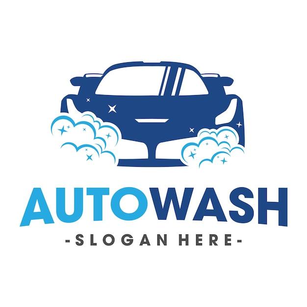 Auto lavagem e clening car logo vector Vetor Premium