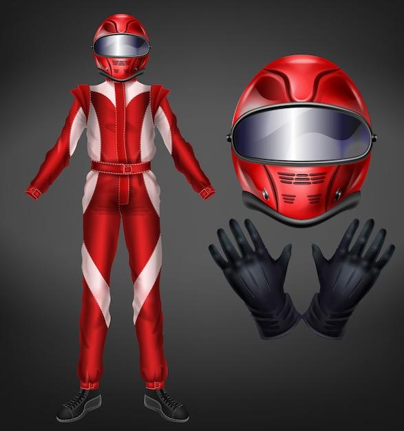 Auto, motorsport racing terno ícone. Vetor grátis