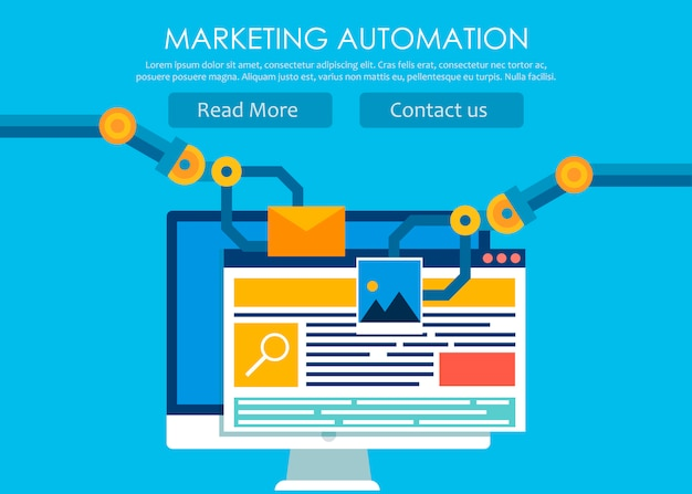 Automação de marketing Vetor grátis