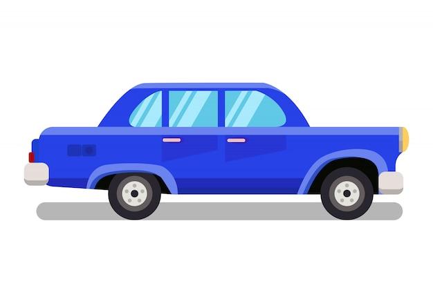 Automóvel de passageiros, ilustração de cor lisa velha do sedan Vetor Premium