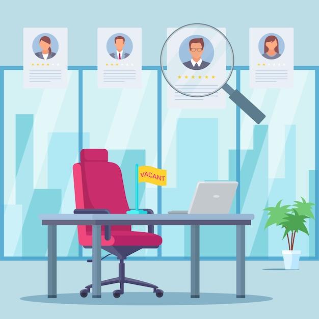 Avaliação de trabalhadores de escritório plana Vetor Premium