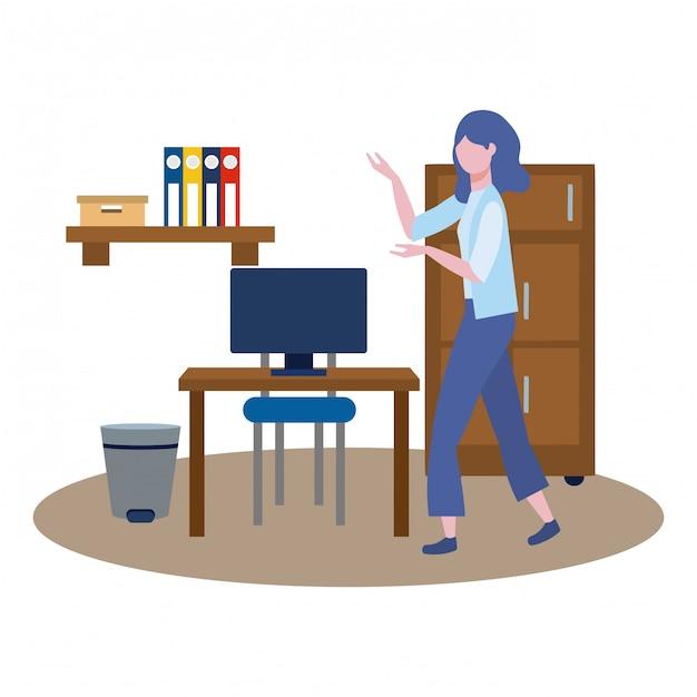 Avatar de mulher de negócios dos desenhos animados Vetor grátis