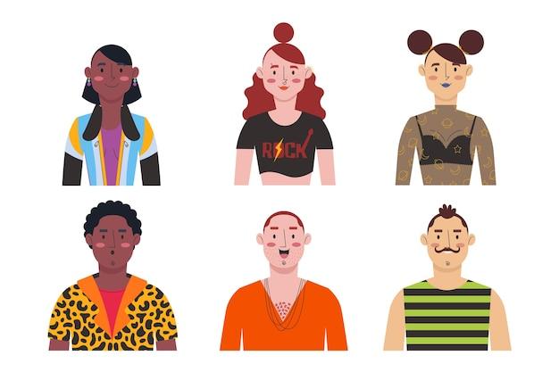 Avatares do grupo de pessoas Vetor grátis