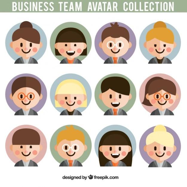 Avatares Equipe Do Negócio Dos Desenhos Animados