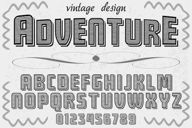 Aventura de design de rótulo de letras Vetor Premium