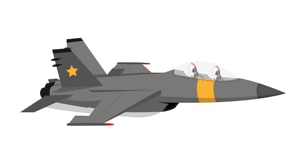 Avião de combate f 18 Vetor Premium