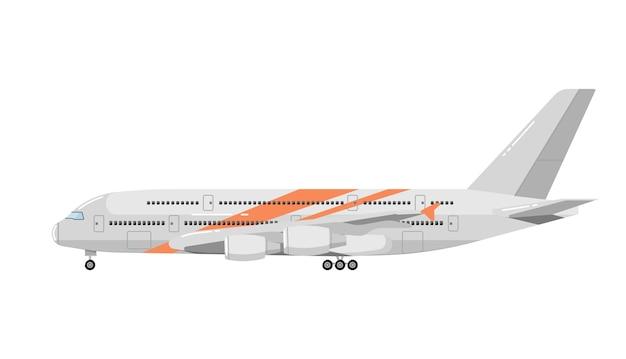Avião isolado no branco Vetor Premium