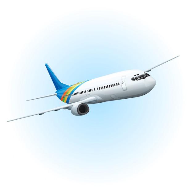 Avião no céu Vetor grátis