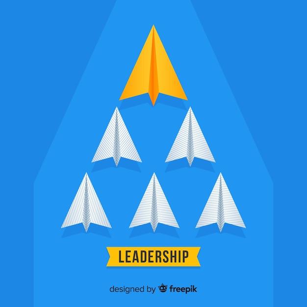 Aviões de papel de liderança Vetor grátis