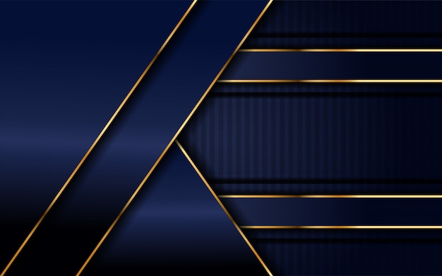 Azuis marinhos escuros com fundo da camada da sobreposição. Vetor Premium