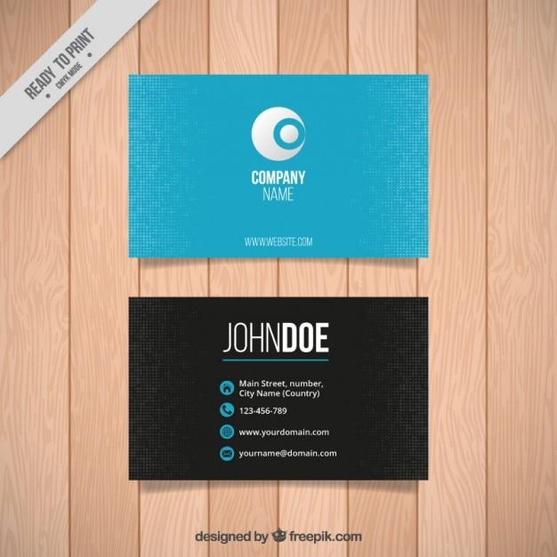 Azul com cartão de pixels de negócios Vetor Premium