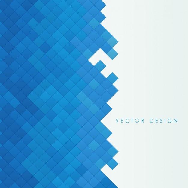 Azul pequenos quadrados de fundo Vetor grátis
