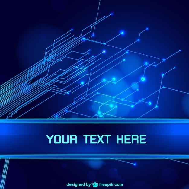 Azul tecnologia fundo abstrato Vetor grátis