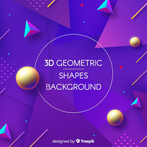 Backgound de formas geométricas 3d Vetor grátis