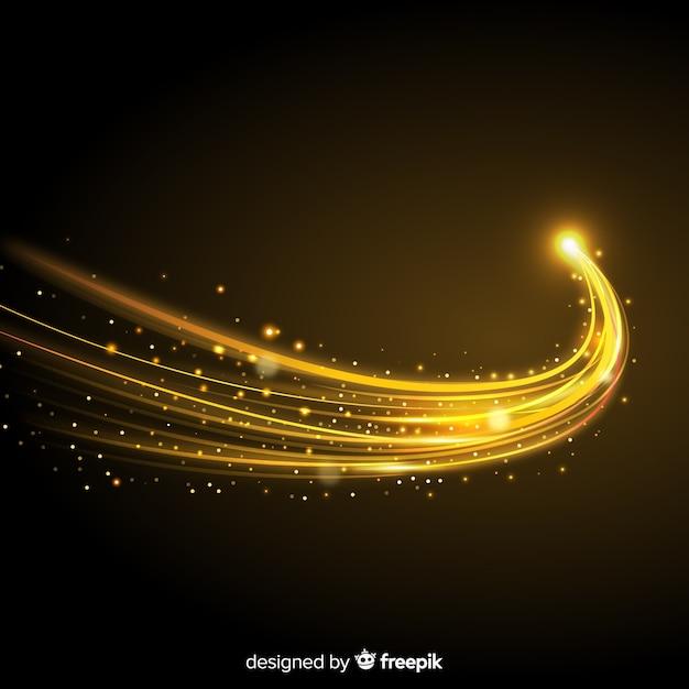 Backgound de onda dourada brilhante Vetor grátis