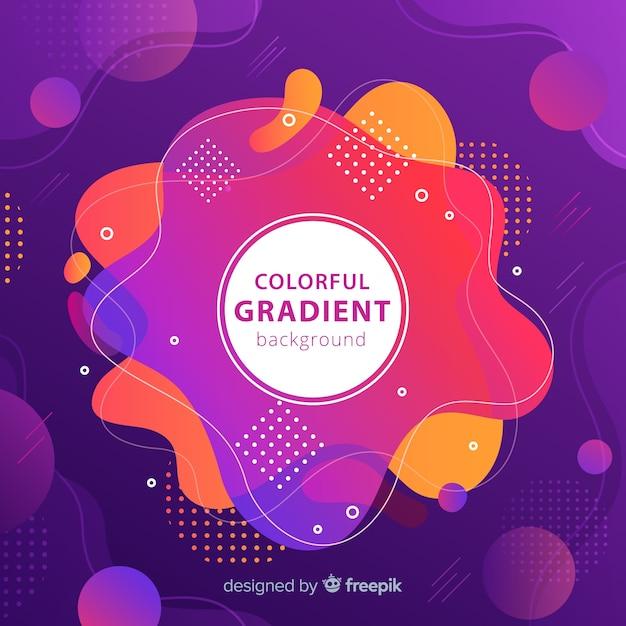 Backgound gradiente colorido Vetor grátis