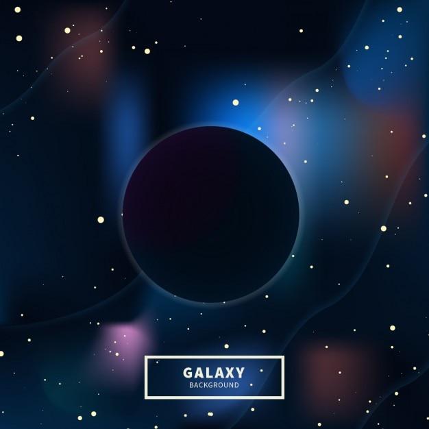 Background buraco negro galaxy Vetor grátis