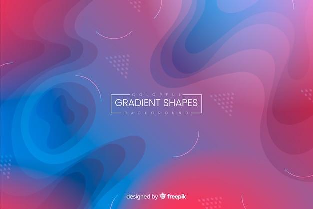 Background gradiente líquido Vetor grátis