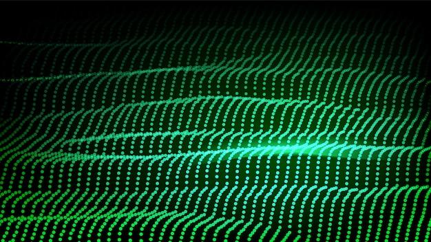 Backrgound verde futurista Vetor Premium