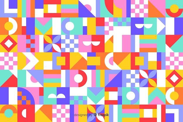 Backround de mosaico geométrico colorido backround Vetor grátis