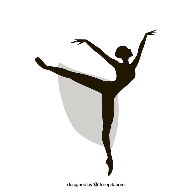 Bailarina silhueta Vetor grátis