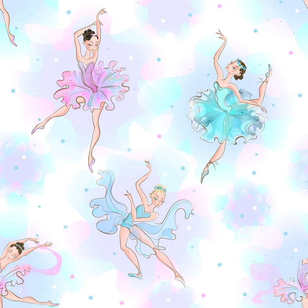 Bailarinas Vetor Premium