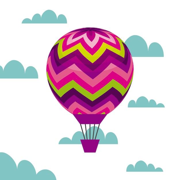 Balão de ar colorido Vetor Premium