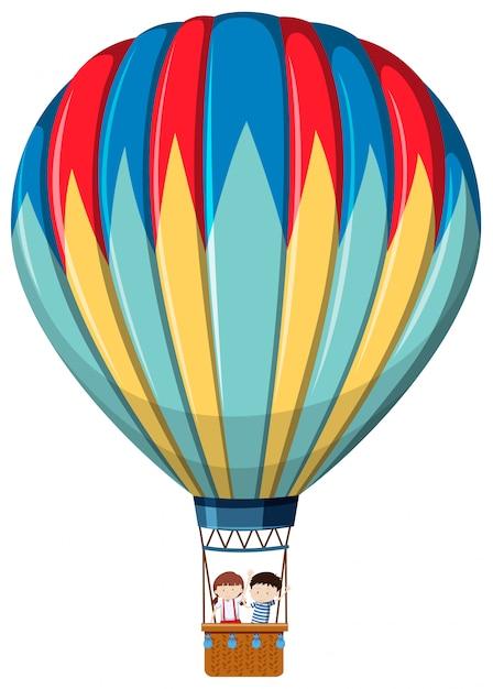 Balão de ar quente isolado Vetor grátis
