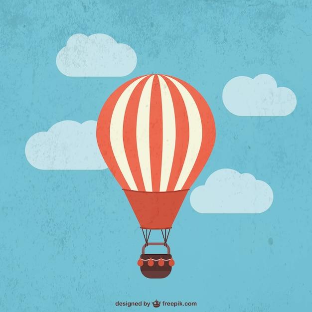 Balão de ar quente retro Vetor grátis