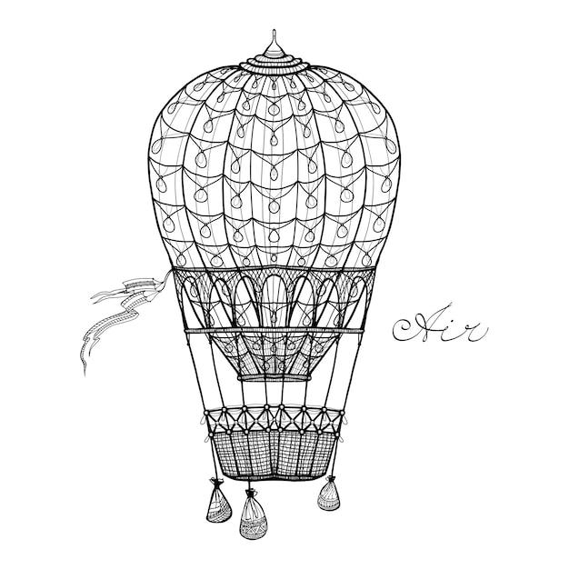 Balão de ar quente Vetor grátis
