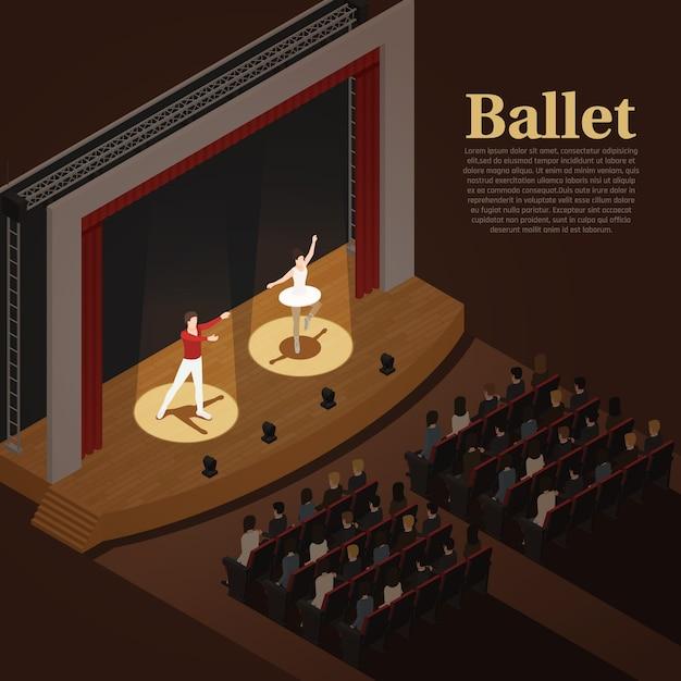 Balé para teatro indoor Vetor grátis