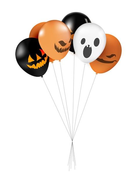 Balões de halloween definir ilustração. Vetor Premium