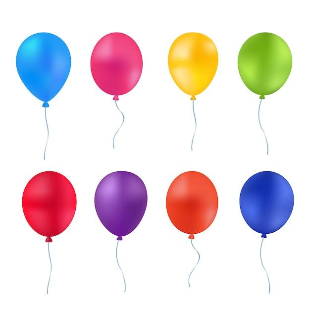 Balões de luz multicoloridos Vetor Premium