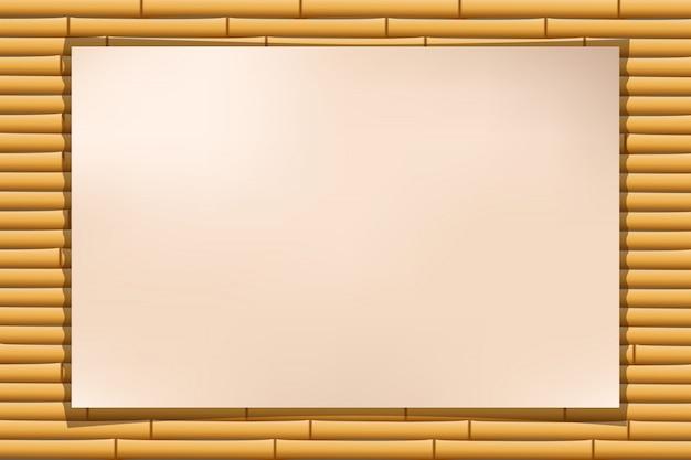 Bambu de papel Vetor Premium