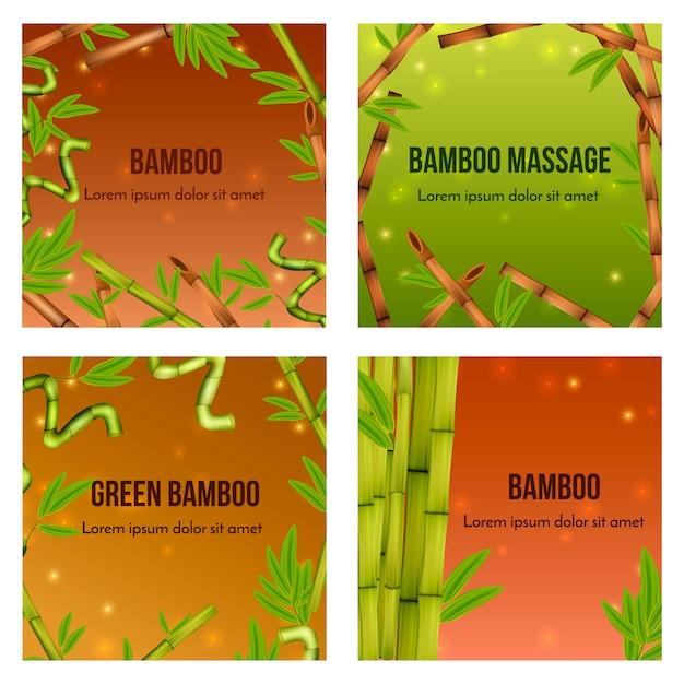 Bambu verde realista natural Vetor grátis