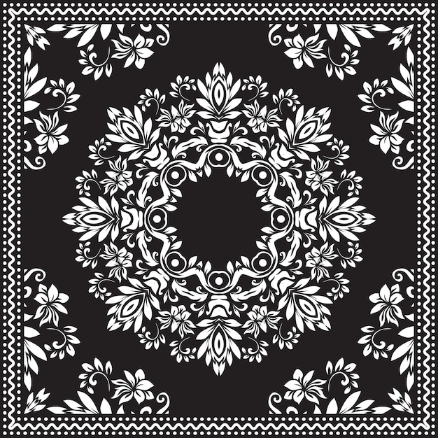 Bandana clipart preto e branco. Vetor grátis