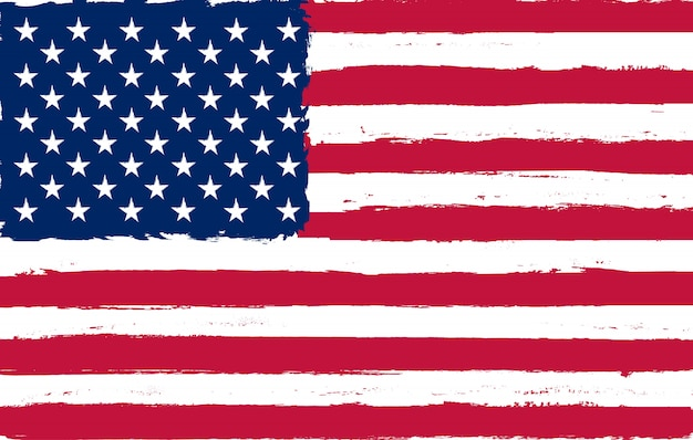 Bandeira americana do grunge Vetor Premium