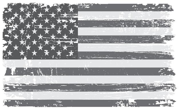 Bandeira americana vintage Vetor Premium