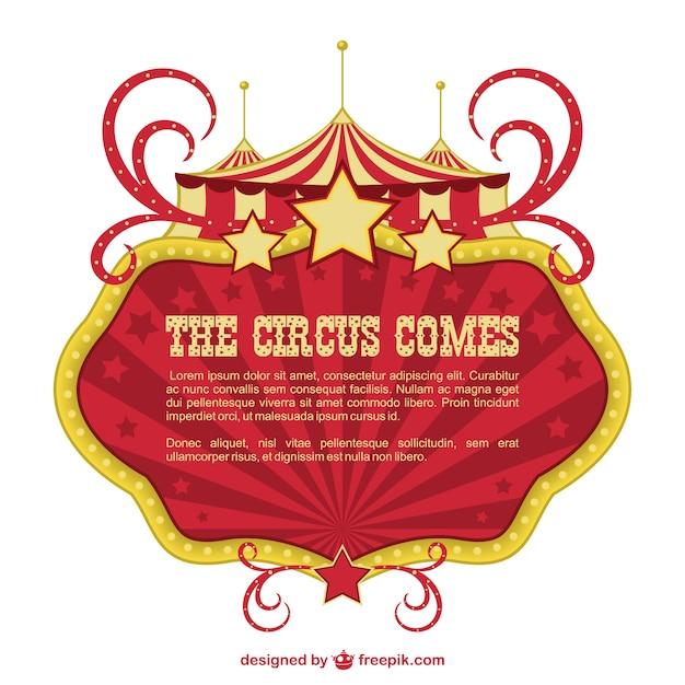Bandeira circo showtime projeto Vetor grátis