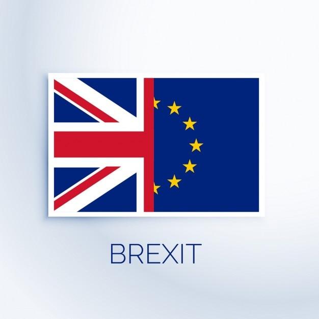 Bandeira conceito brexit Vetor grátis