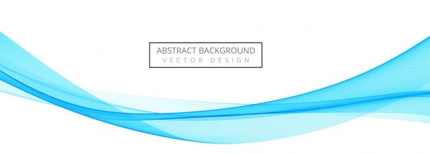Bandeira criativa onda elegante azul Vetor grátis