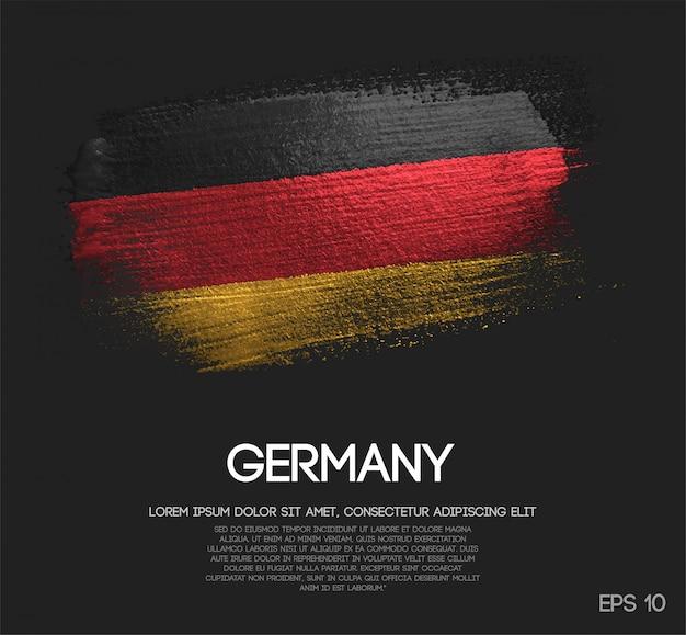 Bandeira da alemanha feita de glitter sparkle brush paint Vetor Premium