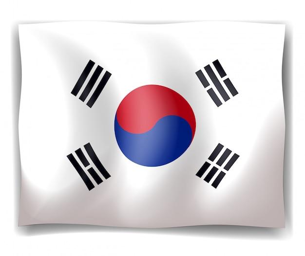 Bandeira da coreia do sul Vetor grátis