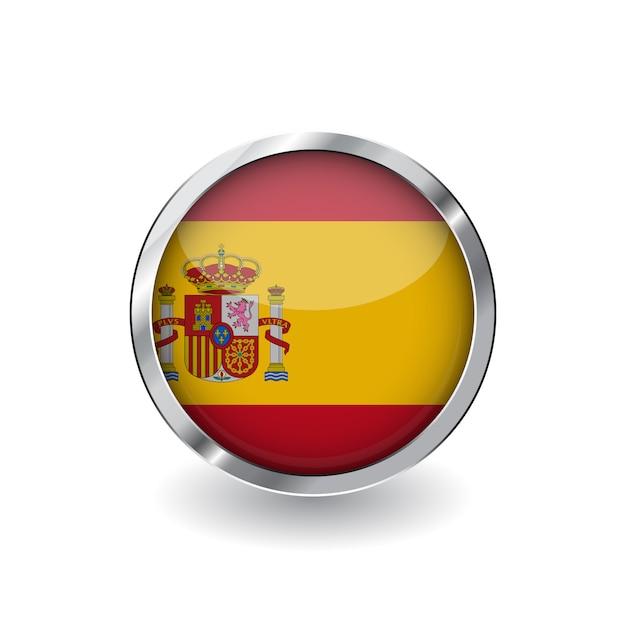 Bandeira da espanha Vetor Premium