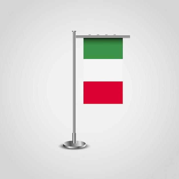 Bandeira da itália com vetor de design criativo Vetor grátis