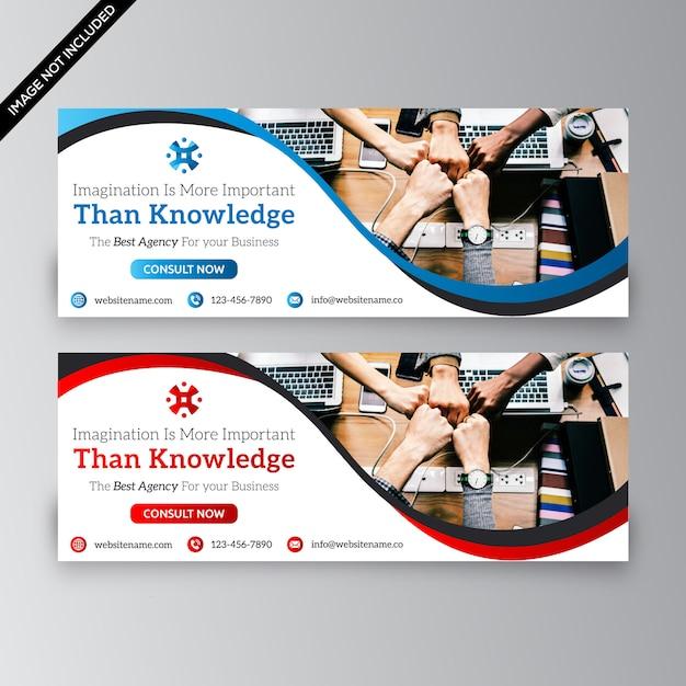 Bandeira da web de negócios Vetor Premium