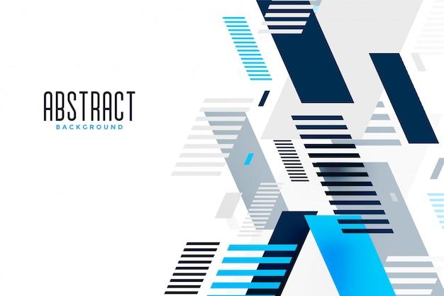 Bandeira de apresentação de composição abstrata linhas azuis Vetor grátis