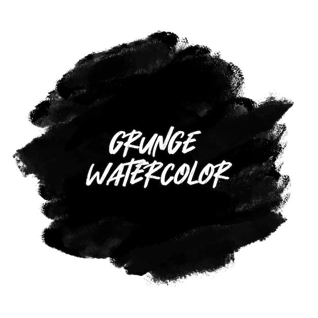 Bandeira de aquarela preto grunge Vetor grátis