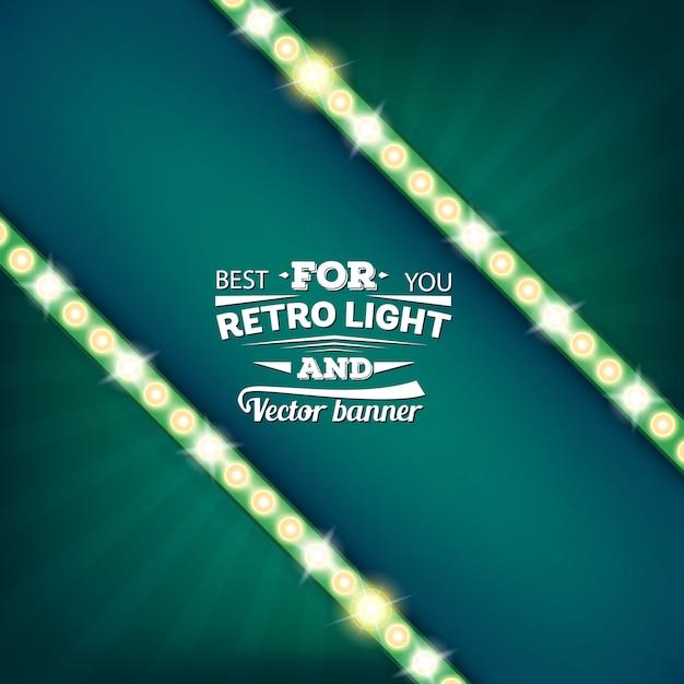 Bandeira de bolha do discurso retrô vector lâmpada. Vetor Premium