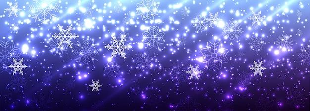 Bandeira de brilhos brilhantes lindos feliz natal Vetor grátis